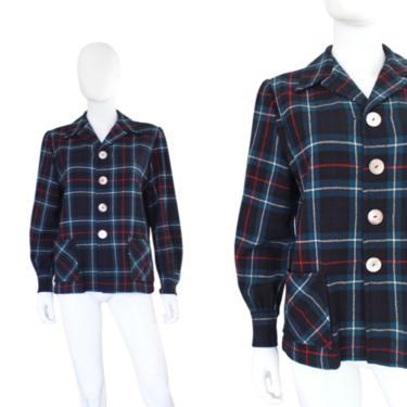 1950s Pendelton 49er Jacket - 1950s Womens Pendleton Jacket - 1950s 49er Jacket - 1950s Navy Blue 49er Jacket - 50s Wool Jacket | Size Large by VeraciousVintageCo