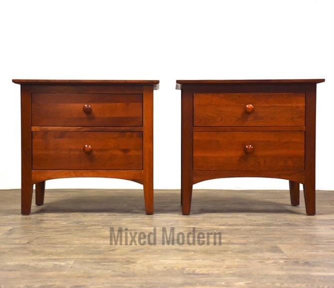 Ethan Allen Solid Cherry Nightstands - A Pair by mixedmodern1