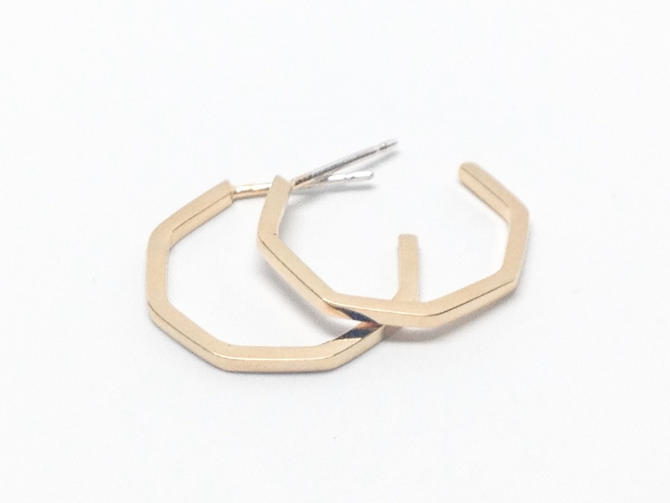 Gold Hoop Earrings by Sarah Cecelia Jewelry by SarahCecelia