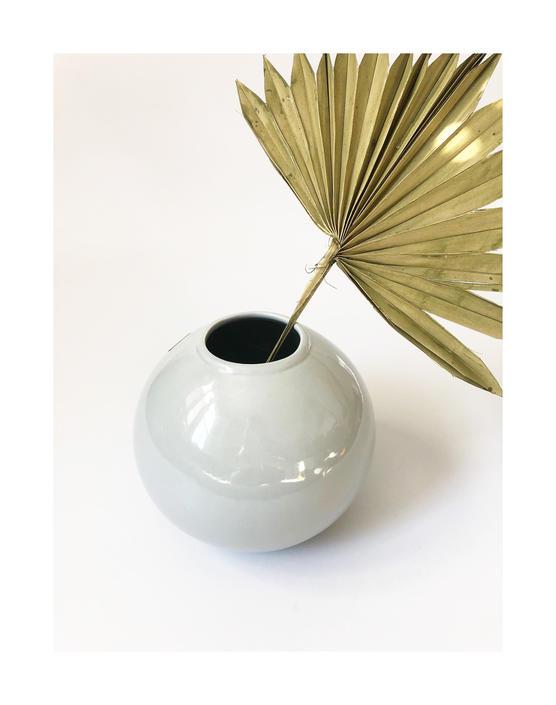 Vintage 80s Modern Gray Sphere Vase by SergeantSailor