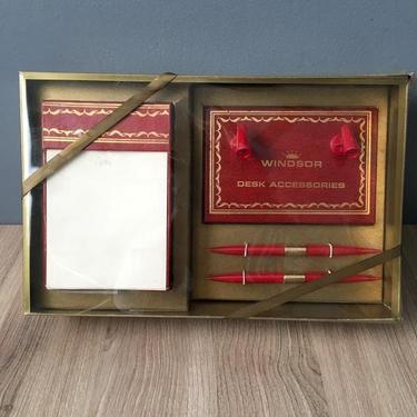 Windsor Desk Accessories - vintage desk gift set - 1960s vintage by NextStageVintage