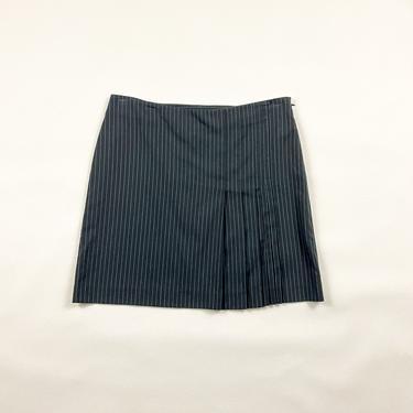 90s Mossimo Baby Blue Pinstripe Pleated Mini Skirt / Stretch / Preppy / y2k / Bratz / 00s / Clueless / Size 10 / Medium / Millenium / by shoptrashdotnet
