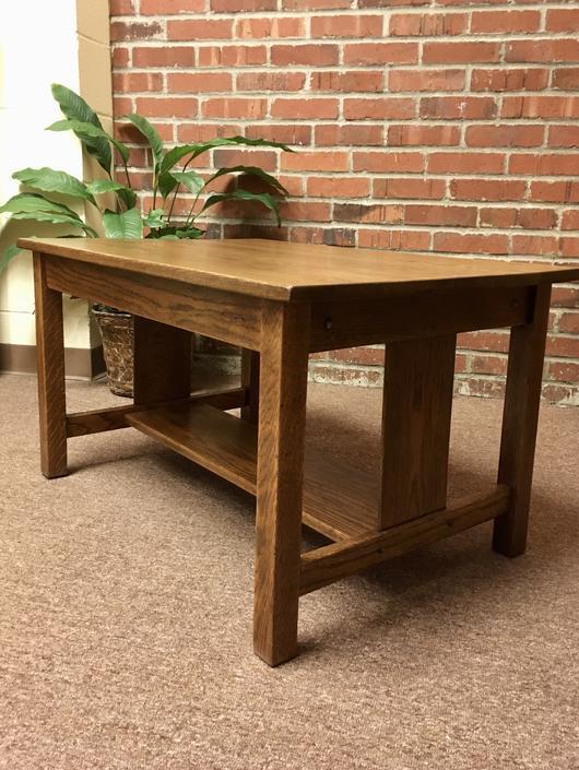 Circa 1910 Oak Coffee Table
