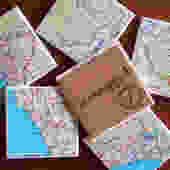1982 Peru & Ecuador Map Handmade Repurposed Vintage Map Coasters - Ceramic Tile Coasters set of 6 - Repurposed 1980s Hammond Atlas - OOAK by allmappedout