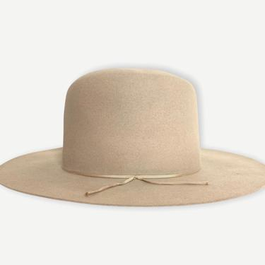 Vintage 1940s STETSON Western Hat ~ 7 1/8 ~ Cowboy ~ Fur Felt Fedora ~ 3X Beaver ~ Open Crown / Boss of the Plains by SparrowsAndWolves