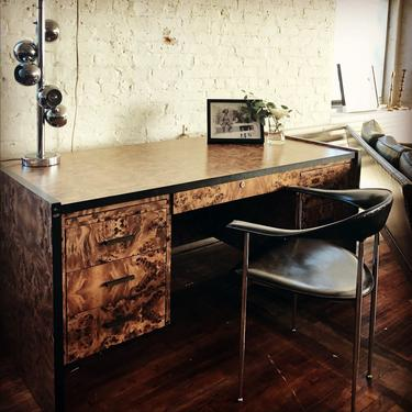 Burlwood Veneer Desk - Reserved