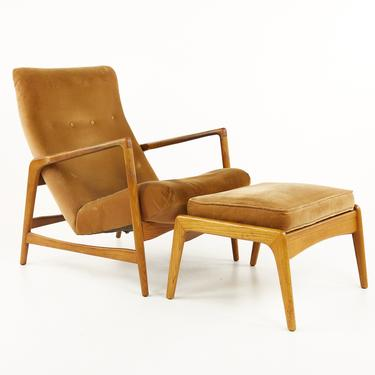 Kofod Larsen Mid Century Highback Lounge Chair and Ottoman - mcm by ModernHill