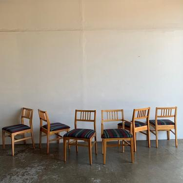 Set of eight solid birch dining chairs by VintageOnPoint