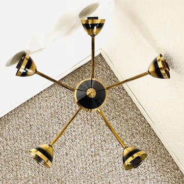 Mid Century Spider Lamp, Sputnik Ceiling Lamp, Vintage Ceiling Fixture, Atomic 5-armed Lamp, Ceiling Lamp Light Fixture Stilnovo by dadacat