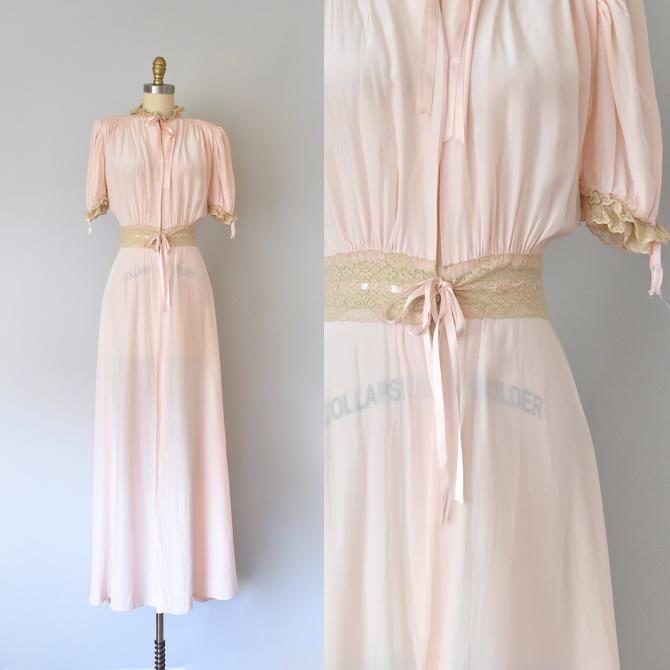 Tula 1940s Rayon Peignoir Art Deco Dressing Gown 40srobe Vintage Lingerie By Erstwhilestyle From Erstwhile Style Vintage Of New York Ny Attic