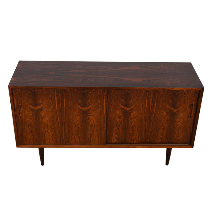 Danish Rosewood Sideboard / Media Cabinet by Hundevad