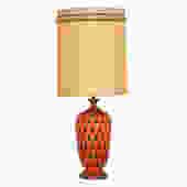 Orange Mid Century 'Teardrop' Table Lamp