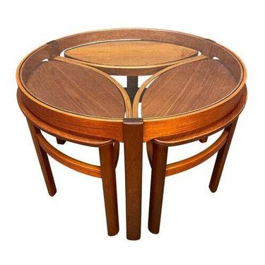 """Vintage British Mid Century Modern """"Trinity"""" Coffee and Nesting Tables by Nathan by AymerickModern"""