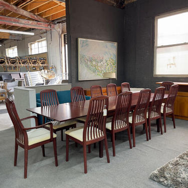 Set Of 12 Rosewood Skovby Dining Chairs