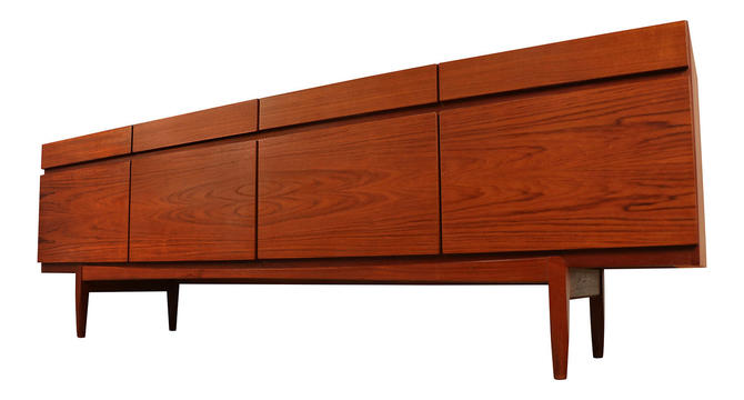 Faarup Mid Century Kofod Larsen Model No. 66 Teak Sideboard by Marykaysfurniture
