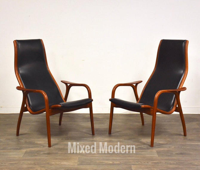 Lamino Lounge Chairs by Yngve Ekström for Swedese Møbler - A Pair by mixedmodern1