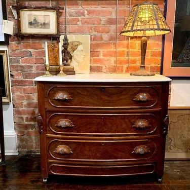 Antique, marble top chest of drawers / dresser