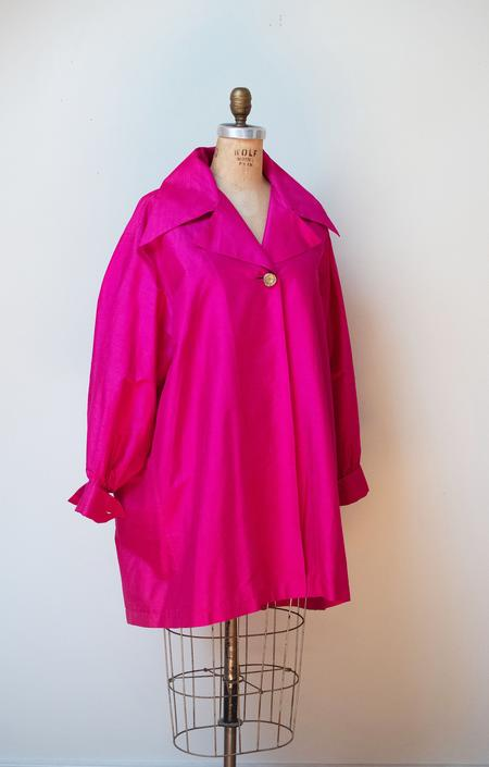1990s Shocking Pink Silk Jacket | Todd Oldham Fall 1991 by FemaleHysteria