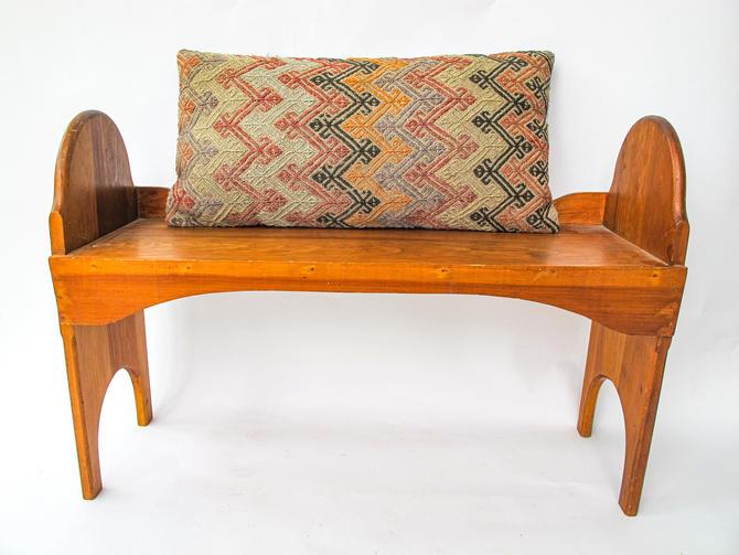 Handmade Vintage Hand Made Solid Wood Stool by PortlandRevibe