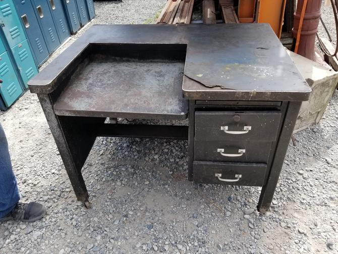 "Metal Work Table with 4 Drawers 45"" W by 33"" H by 34"" D"