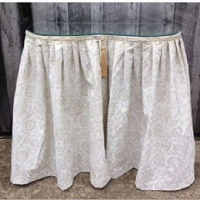 Vintage Vanity Table Kidney Shape Mirrored Top New Skirt 199 From Fabulous Finds Of Vienna Va Attic