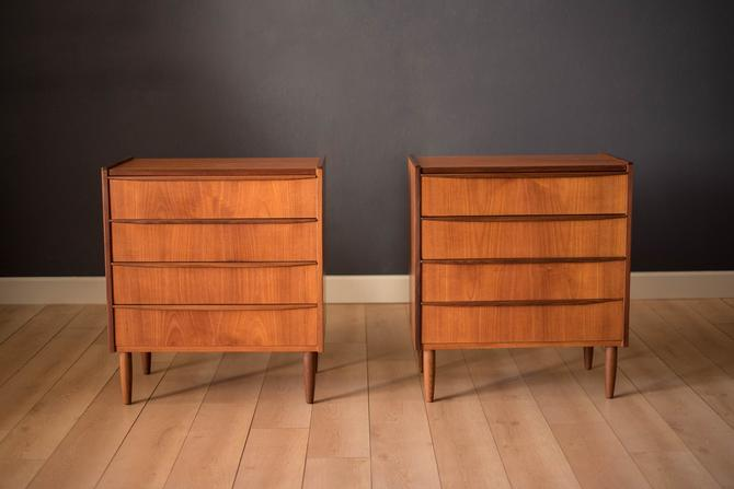 Pair of Vintage Danish Teak Dresser Chests by MidcenturyMaddist