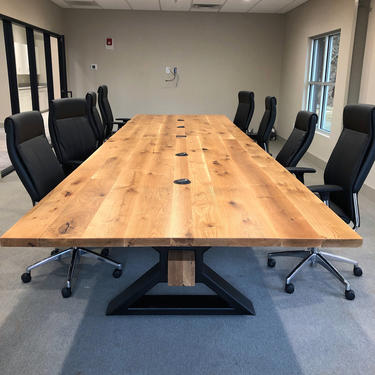 Modern Industrial Conference Table by HickoryandHaze
