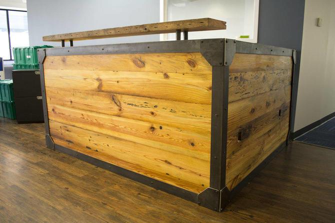 Industrial Reception Desk by twoboltsstudios