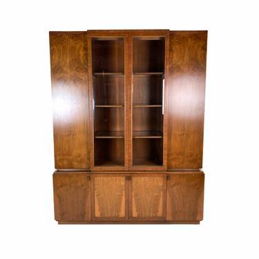 Vintage Romweber Midcentury Modern Burled Walnut China Curio Cabinet by PrairielandArt