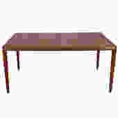 Danish Teak Extra-Large Expanding Dining Table w/ 2 Leaves
