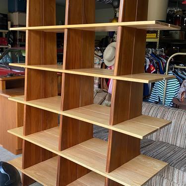 Mid Century Room Dividing Shelf by DesertCactusVintage