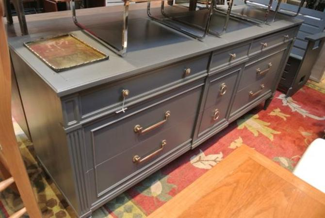 Grey painted dresser. $595