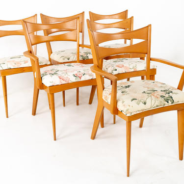 Paul McCobb Style Heywood Wakefield Mid Century Bowtie Dining Chairs - Set of 6 - mcm by ModernHill