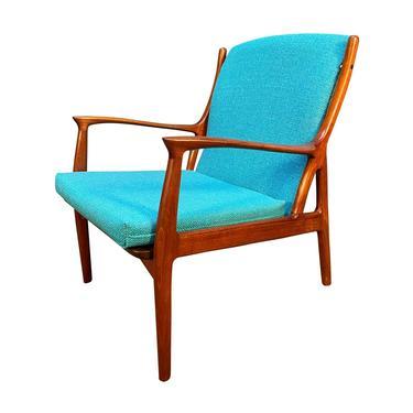 Vintage Danish Mid Century Modern Teak Lounge Chair by Erik Andersen & Palle Pedersen for Horsnaes Møbler by AymerickModern