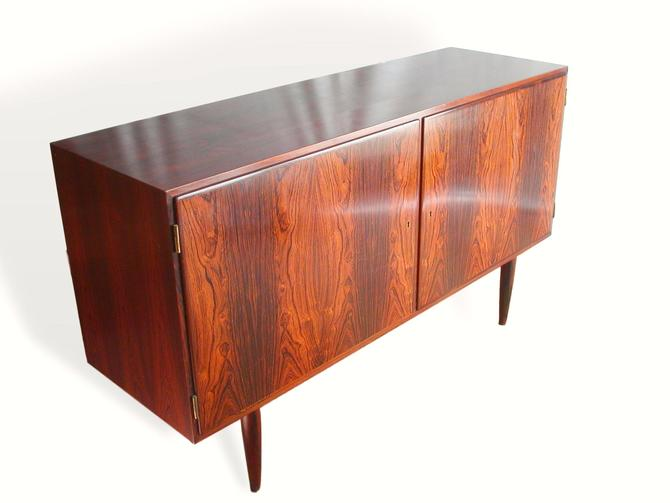 "Danish Modern Brazilian Rosewood 54"" Credenza By Poul Hundevad,  MCM Mid-Century Sidebaord Buffet Teak Eames Denmark by RetroSquad"