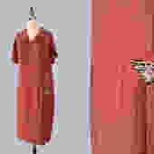 1920s Dress / 20s Day Dress / Triangle Hip Pocket! / L by GuermantesVintage
