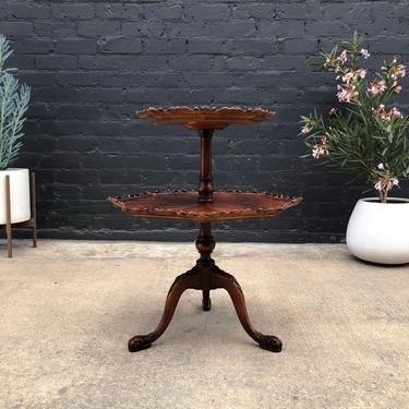Antique Mahogany Two-Tier End / Side Table, c.1950's by VintageSupplyLA