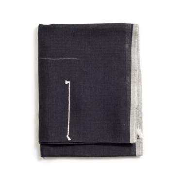 Baltic Black Cotton Scarf