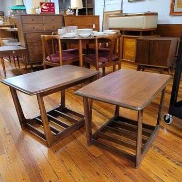 Pair of walnut Bassett side tables