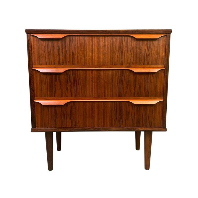 Vintage Danish Mid Century Modern Rosewood Chest of Drawers - Nightstand by AymerickModern