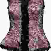 Oscar de la Renta Pink Bustier with Black Lace Overlay