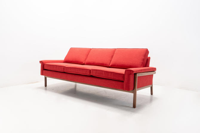 Mid Century Modern Danish Pillowback Sofa by TDFurniture