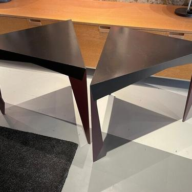Pair of fabulous triangular side tables by Naomi Vogelfanger 1986