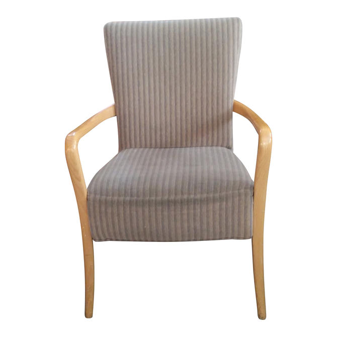 Mid Century Modern Style Bentwood Armchair Velour Upholstery with Thick Cushioned Seat made by Lowenstein by 3GirlsAntiques