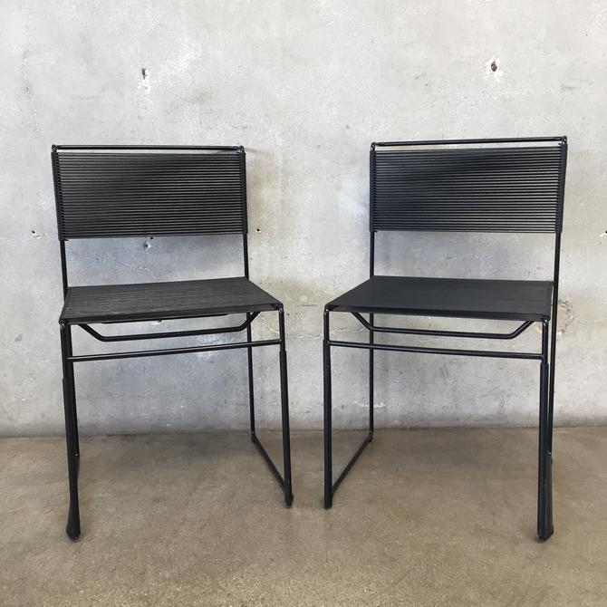 Pair of Mid Century Spaghetti Chairs