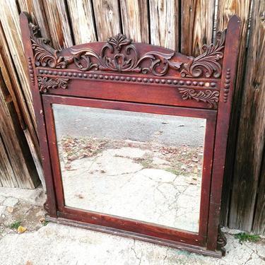 Big old mirror 4x4 #antique #vintage #petworth