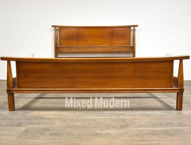 Walnut Full Mid Century Modern Bed by mixedmodern1