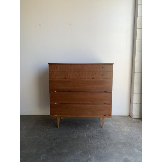 Mid Century Higboy Dresser in Walnut by VintageOnPoint