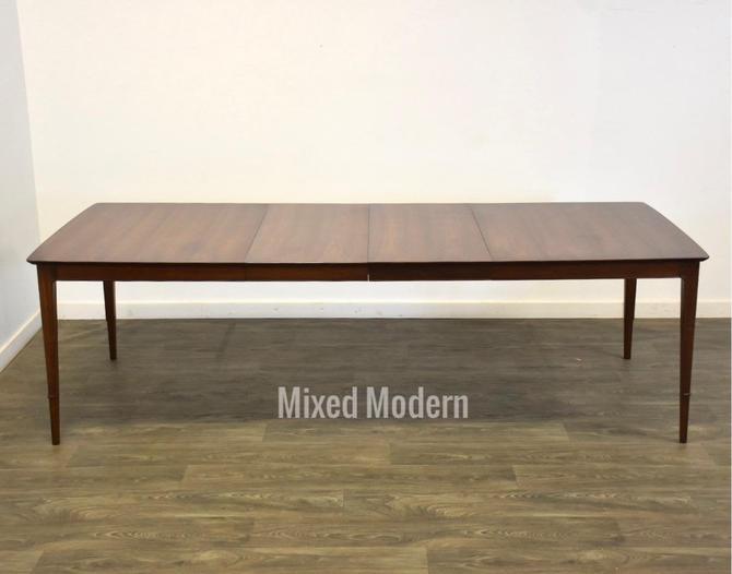 John Stuart Walnut Extendable Dining Table by mixedmodern1