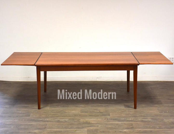 Danish Teak Draw Leaf Dining Table by mixedmodern1